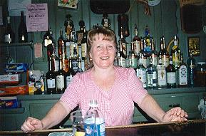 Carol Bishop at Mitchell's Cafe in Lambertville, NJ as seen in American Public House Review