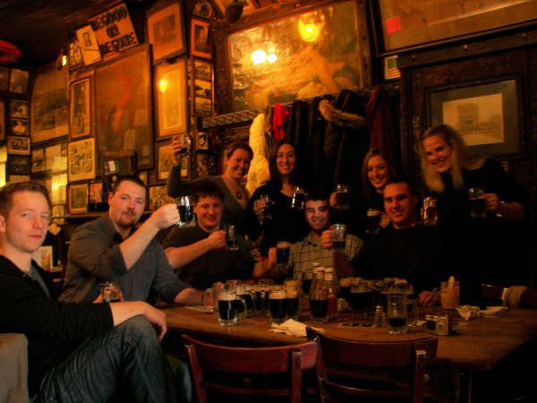 Patrons of McSorleys as seen in American Public House Review