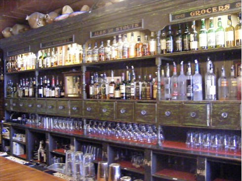 Backbar at Bull Feeney's in Portland Maine as seen in American Puiblic House Review