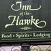Sign at Inn of the Hawke in                               Lambertville NJ as seen in American Public                               House Review