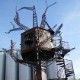 Steampunk sculpture at                                           Dogfish Head Brewery in                                           Milton, DE as seen in American                                           Public House Review