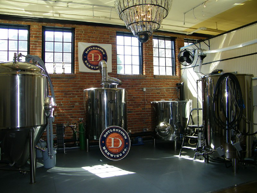 Brew room at Doylestown Brewing Company in Doylestown, PA as seen in American Public House Review