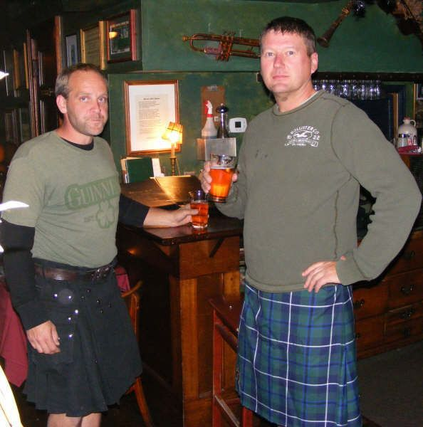 Kilt night at Porter's Pub as seen in                              American Public House Review