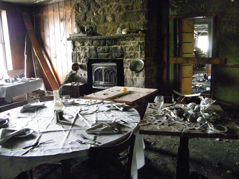 Indian Rock Inn's Dining Room after the fire as seen in American Public House Review