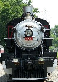 Southern 385 locomotive's headlight as seen in American public House Review